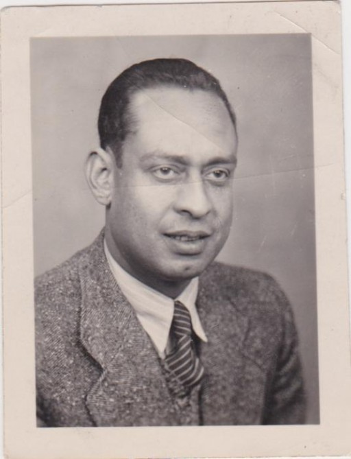 """<p>Portrait of<span style=""""font-weight: 400;"""">Dr. Mohamed <a href=""""/narrative/45338/en"""">Helmy</a>.Helmy was an Egyptian physician living in Berlin. He worked together with and Frieda Szturmann, a local German woman, to help save a Jewish family.</span></p>"""