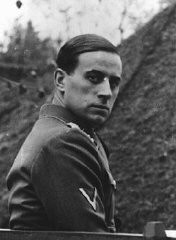 "<p>Nazi physician Karl Brandt, director of the <a href=""/narrative/4032/en"">Euthanasia Program</a>. August 27, 1942.</p>"