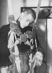 """<p><a href=""""/narrative/3000/en"""">Medical experiment</a> performed at the <a href=""""/narrative/4391/en"""">Dachau</a> concentration camp to determine altitudes at which German pilots could survive. Germany, 1942.</p>"""