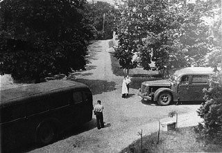 <p>Buses that transported patients from a public hospital near Wiesbaden to the Hadamar euthanasia center, where the patients were gassed or killed by lethal injection. Germany, between May and September 1941.</p>