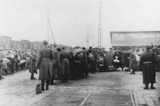 "<p>Deportation of Jews from the Jozsefvarosi train station in <a href=""/narrative/4669/en"">Budapest</a>. <a href=""/narrative/6229/en"">Hungary</a>, November 1944.</p>"