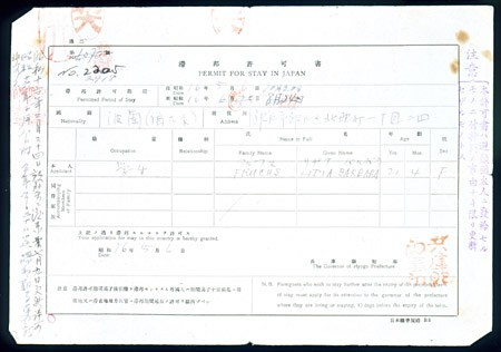 <p>Most Polish Jewish refugees stayed in Japan much longer than their 10-day transit visas allowed. Many feared the day when Japanese authorities would no longer extend their stay with permits like the one shown here. [From the USHMM special exhibition Flight and Rescue.]</p>