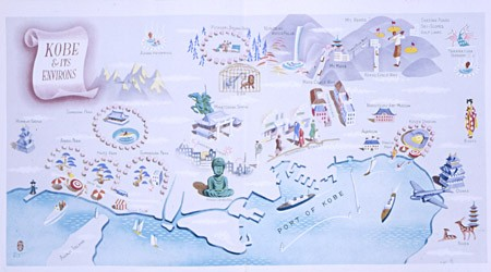 <p>The Kobe Municipal Office issued an English-language tourist guide to Kobe and its environs. This illustration comes from the interior pages of the guide. Jewish refugees in Kobe used such pieces of information. Kobe, Japan, 1940-1941. [From the USHMM special exhibition Flight and Rescue.]</p>