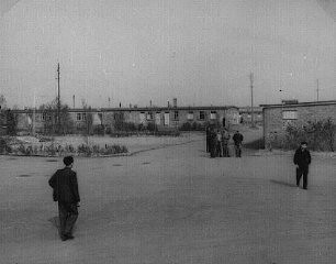<p>View of the Zeilsheim displaced persons camp. Zeilsheim, Germany, 1945.</p>