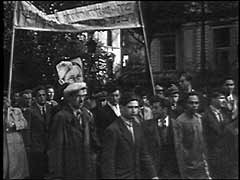 <p>After World War II, the Allies repatriated millions of displaced persons (DPs) to their countries of origin. But hundreds of thousands of people, including more than 250,000 Jewish refugees, could not or would not return. Most Jewish DPs preferred to leave Europe for either Palestine or the United States. The Allies housed them in camps in occupied Germany until they could be resettled. Here, Jewish Zionists protest their continued confinement in Zeilsheim displaced persons camp in Germany. They demand that they be permitted to emigrate to Palestine.</p>