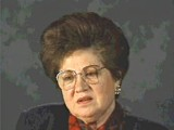 <p>Both of Charlene's parents were local Jewish community leaders, and the family was active in community life. Charlene's father was a professor of philosophy at the State University of Lvov. World War II began with the German invasion of Poland on September 1, 1939. Charlene's town was in the part of eastern Poland occupied by the Soviet Union under the German-Soviet Pact of August 1939. Under the Soviet occupation, the family remained in its home and Charlene's father continued to teach. The Germans invaded the Soviet Union in June 1941, and arrested Charlene's father after they occupied the town. She never saw him again. Charlene, her mother, and sister were forced into a ghetto the Germans established in Horochow. In 1942, Charlene and her mother fled from the ghetto after hearing rumors that the Germans were about to destroy it. Her sister attempted to hide separately, but was never heard from again. Charlene and her mother hid in underbrush at the river's edge, and avoided discovery by submerging themselves in the water for part of the time. They hid for several days. One day, Charlene awoke to find that her mother had disappeared. Charlene survived by herself in the forests near Horochow, and was liberated by Soviet troops. She eventually immigrated to the United States.</p>