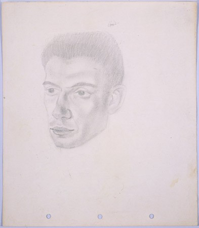 <p>Portrait of Janek Goldstein, in pencil, by Yonia Fain. Goldstein, a friend of the artist in Shanghai, was the son of Bernard Goldstein, who was active in the Bundist underground of the Warsaw ghetto and participated in the 1943 uprising. [From the USHMM special exhibition Flight and Rescue.]</p>