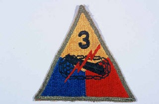 "<p>Insignia of the <a href=""/narrative/7974/en"">3rd Armored Division</a>. ""Spearhead"" was adopted as the nickname of the 3rd Armored Division in recognition of the division's role as the ""spearhead"" of many attacks during the liberation of <a href=""/narrative/4997/en"">France</a> in 1944.</p>"