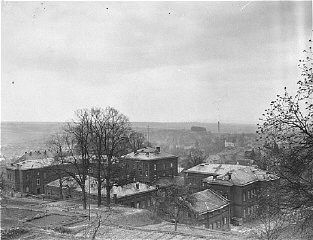"<p>View of the <a href=""/narrative/8116/en"">Hadamar</a> Institute. This photograph was taken by an American military photographer soon after the liberation. Germany, April 7, 1945.</p>"