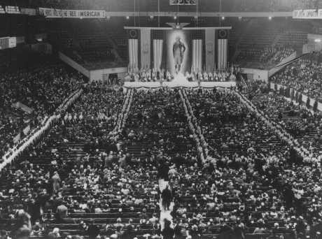 Pro-Nazi German American Bund rally at Madison Square Garden.