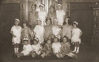 "<p>Group portrait of children dressed in <a href=""/narrative/9164/en"">Purim</a> costumes. Danzig, 1930-1939.</p>"