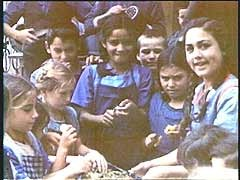"<p>Eva Justin was an assistant to Dr. Robert Ritter, the Third Reich's ""expert"" on <a href=""/narrative/5123/en"">Roma (Gypsies)</a>. She studied these Romani (Gypsy) children as part of her dissertation on the racial characteristics of Roma. The children stayed at St. Josefspflege, a Catholic children's home in Mulfingen, Germany. Justin completed her study shortly after this film was taken. The children were deported to <a href=""/narrative/3673/en"">Auschwitz-Birkenau</a>, where most were killed.</p>"