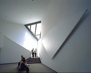 <p>Architectural details in the third floor lounge in the United States Holocaust Memorial Museum.</p>