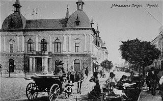 <p>Prewar view of the Transylvanian town of Sighet, Romania.</p>