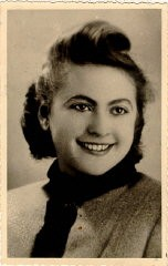 <p>Amalie Petranka (later Salsitz) at 22 years of age. She gave this photo to Norman Salsitz shortly after they met. Photograph taken in Stanislawow, Poland, on October 10, 1939.</p>