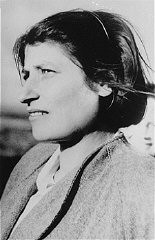 "<p>Zivia Lubetkin, a founder of the Jewish Fighting Organization (ZOB) and participant in the <a href=""/narrative/3636/en"">Warsaw ghetto uprising</a>. Poland, date uncertain.</p>"