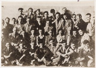 <p>Dawid Sierakowiak (seen here in the 3rd row, 4th from right)</p>