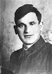 """<p>Portrait of Asael Bielski, a founder of the <a href=""""/narrative/11060/en"""">Bielski brothers</a>' Jewish partisan unit in Naliboki forest. He was killed on the Soviet front in 1944. Novogrudok, Poland, before 1941.</p>"""