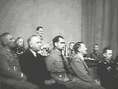 <p>Hermann Goering recites the preamble to the Nuremberg Laws at the seventh Nazi Party Congress. The laws defined German citizenship by blood and forbade marriages between Germans and Jews. A special session of the Reichstag (German parliament) enacted the laws, marking an intensification of Nazi measures against Jews.</p>
