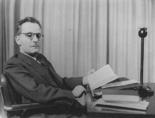 "<p><a href=""/narrative/11587/en"">Max Brod</a>, a Czech-born Jewish author and composer who wrote in the German language. An active Zionist, he succeeded in leaving for Palestine in 1939. Prague, Czechoslovakia, February 27, 1937.</p>"