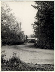 "<p>View of the road leading to the <a href=""/narrative/11676/en"">Deggendorf</a> displaced persons camp. Deggendorf, Germany, 1945-46.</p>"