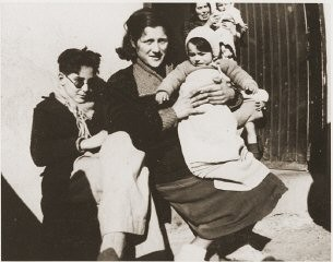 "<p>In 1939, some 500,000 Spanish Republicans fled to France, where many, including this family, were interned in camps. When World War II broke out, these internment camps housed ""enemy aliens,""  including German-Jewish refugees and Nazi political opponents. Rivesaltes, France, ca. 1941,</p>"