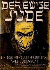 "<p>Advertising poster for the antisemitic film, <a href=""/narrative/11815/en""><em>Der ewige Jude</em></a> (The Eternal Jew), directed by Fritz Hippler. Germany, ca. 1940.</p>"