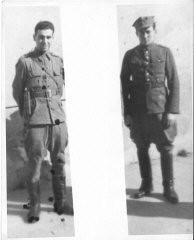 """<p><a href=""""/narrative/11895/en"""">Sam Gruber</a> (left) in 1945.</p>"""
