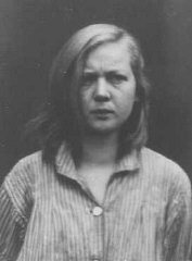<p>Emmi G., a 16-year-old housemaid diagnosed as schizophrenic. She was sterilized and sent to the Meseritz-Obrawalde euthanasia center where she was killed with an overdose of tranquilizers on December 7, 1942. Place and date uncertain.</p>