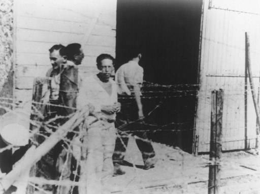 "<p><a href=""/narrative/7679/en"">Lion Feuchtwanger</a> (1884–1958), German-Jewish novelist, playwright, essayist, during his internment in the Les Milles camp. Les Milles, France, 1940.</p>"
