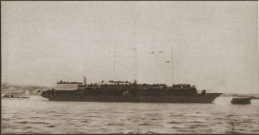 View of the Struma in the Istanbul harbor, Turkey, February 1942.