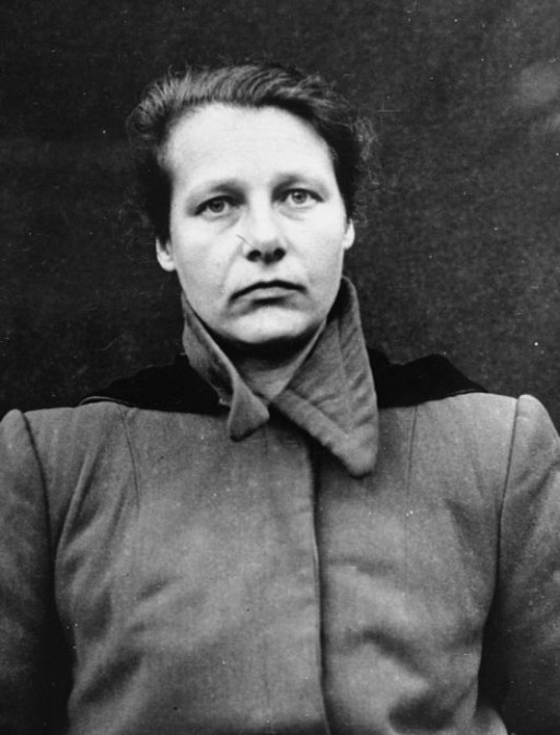 """<p>Herta Oberheuser was a physician at the <a href=""""/narrative/4015/en"""">Ravensbrück</a> concentration camp. She performed medical experiments.She was found guilty of performing sulfanilamide experiments, bone, muscle, and nerve regeneration and bone transplantation experiments on humans, as well as of sterilizing prisoners.</p> <p>This portrait of Herta Oberheuser was taken when she was a defendant in the <a href=""""/narrative/9245/en"""">Medical Case Trial</a> at Nuremberg.</p>"""