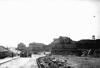 <p>A section of the Plaszow camp. Plaszow, Poland, 1943-1944.</p>