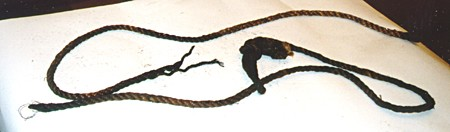 <p>Rope used in the hanging of Noach Meck in Kovno.</p>