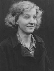 <p>A shopworker with a disputed schizophrenic diagnosis, Gerda D. was sterilized. Later, she was forbidden to marry by Nazi authorities because of the sterilization. Place and date unknown.</p>