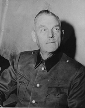 Defendant Wilhelm Keitel, former Chief of the German Armed Forces, in his Nuremberg prison cell.