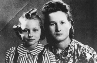 <p>Stefania Podgorska (right), pictured here with her younger sister Helena (left), helped Jews survive in German-occupied Poland. She supplied food to Jews in the Przemysl ghetto. Following the German destruction of the ghetto in 1943, she saved 13 Jews by hiding them in her attic. Przemysl, Poland, 1944.</p>