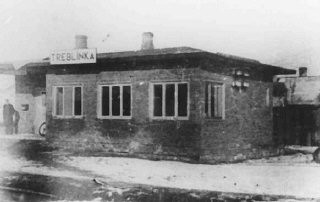 "<p>Train station near the <a href=""/narrative/3819/en"">Treblinka</a> killing center. This photo was found in an album belonging to camp commandant Kurt Franz. Poland, 1942-1943.</p>"