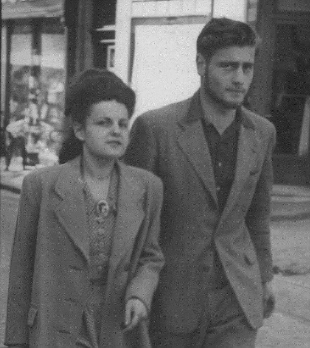 French Jewish partisan Bernard Musmand with Simone, a member of the French resistance.