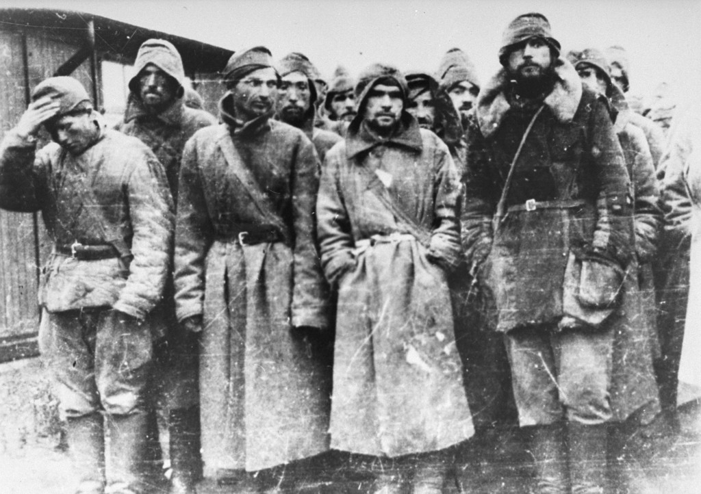 Soviet prisoners of war in Sachsenhausen.