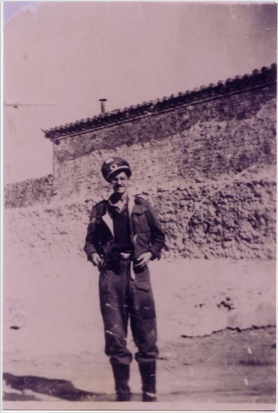 David Broudo in partisan uniform, 1943.