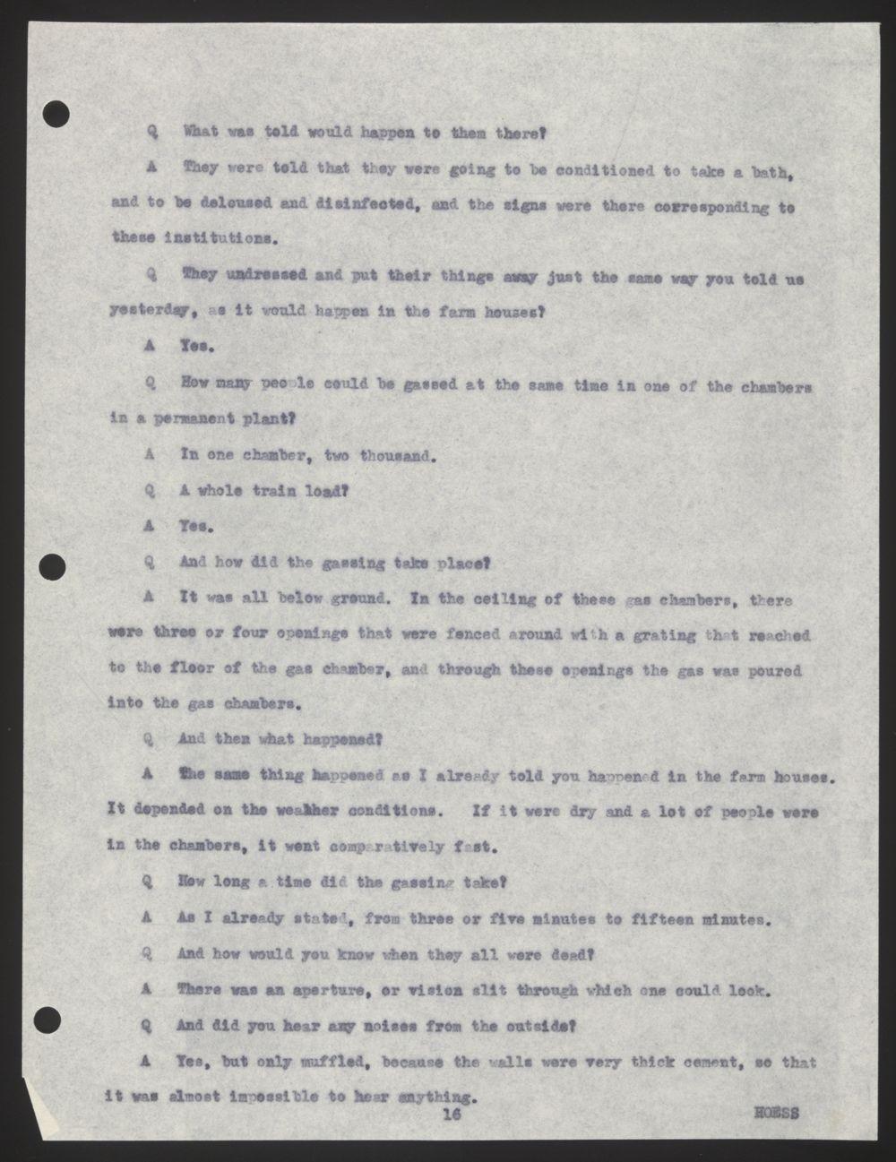 Documented Testimony of Rudolf Höss