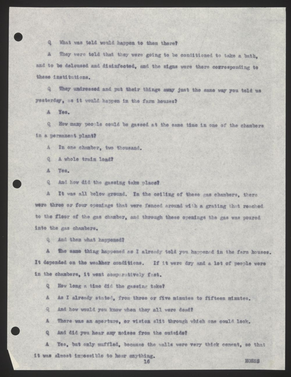 Documented Testimony of Rudolf Höss