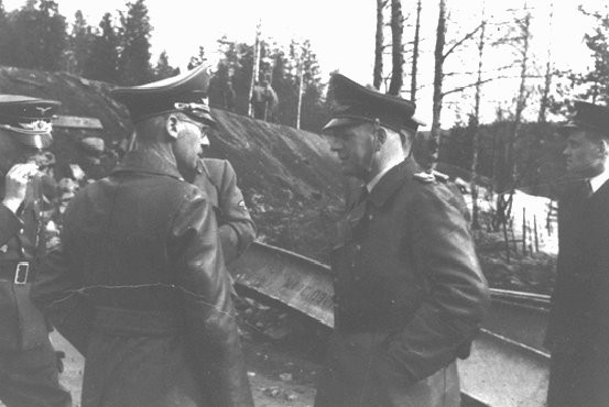 <p>Josef Terboven (foreground, left), German commissioner for occupied Norway, 1940-1945.</p>