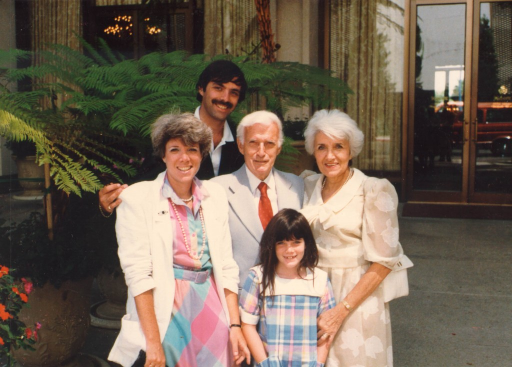Blanka and Harry with their daughter Shelly, son-in-law, and granddaughter Alexis Danielle.