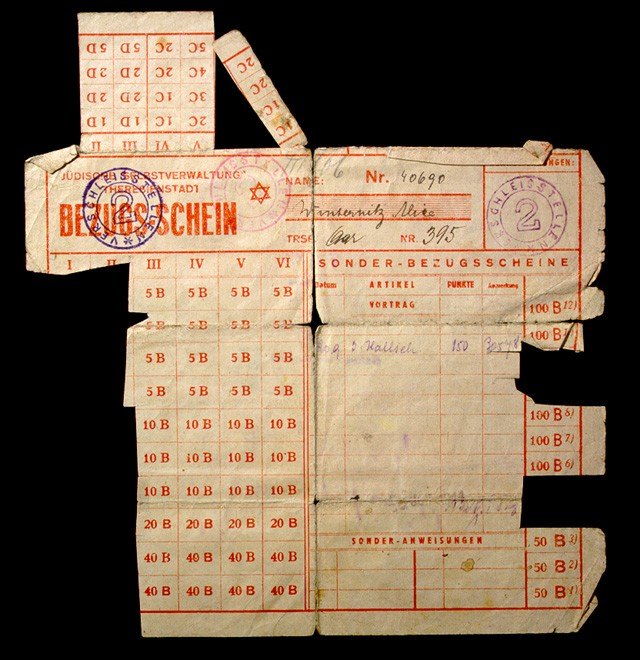 Theresienstadt ration card issued to Alice Winternitz (front) [LCID: 19986f8o]