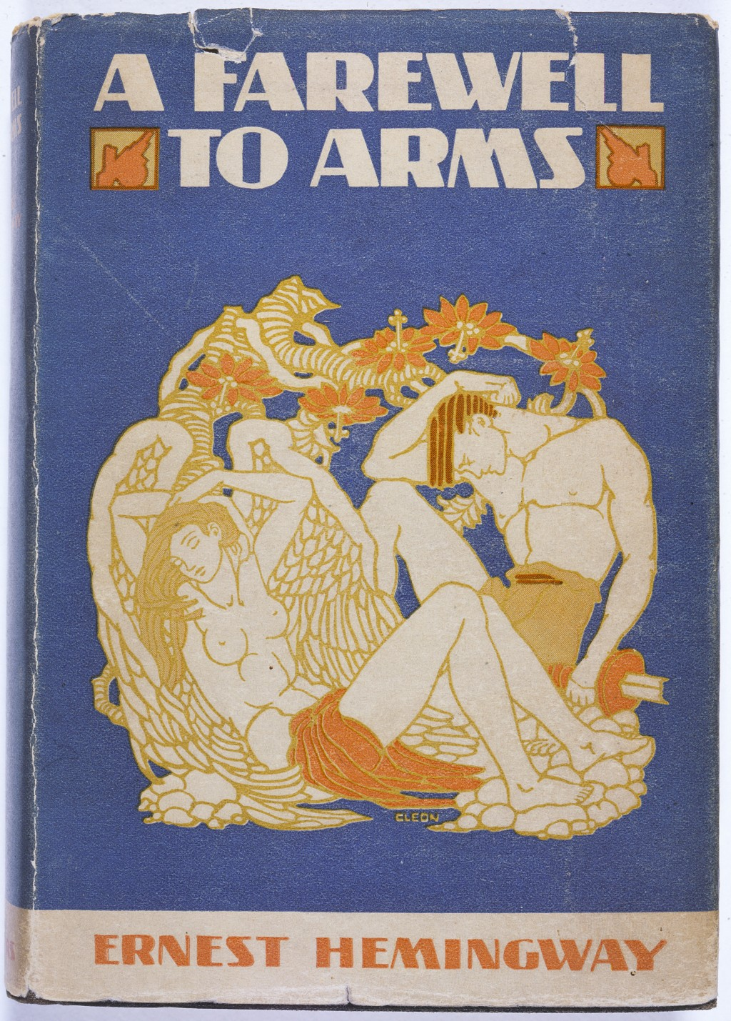 <p>Cover of Ernest Hemingway's  <em>A Farewell to Arms. </em>(1929 cover. Princeton University Library.)</p>