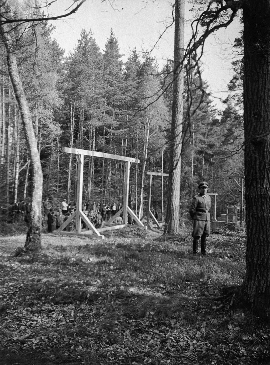 Gallows near the Buchenwald camp