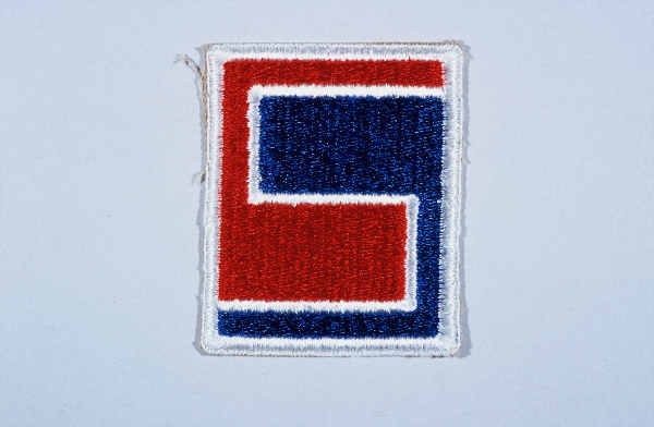 """Insignia of the 69th Infantry Division. The 69th Infantry Division gained the nickname the """"Fighting 69th"""" during World War II. [LCID: n05641]"""