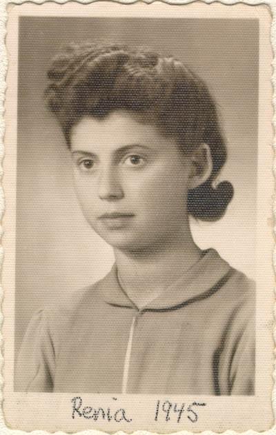 <p>Photograph of Regina (Renia) taken on June 2, 1945, in Lodz, Poland.</p>